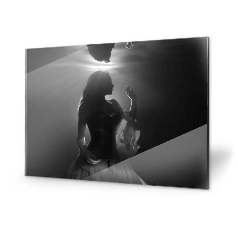 Unterwasser Fotografie Frau Acrylglasbilder