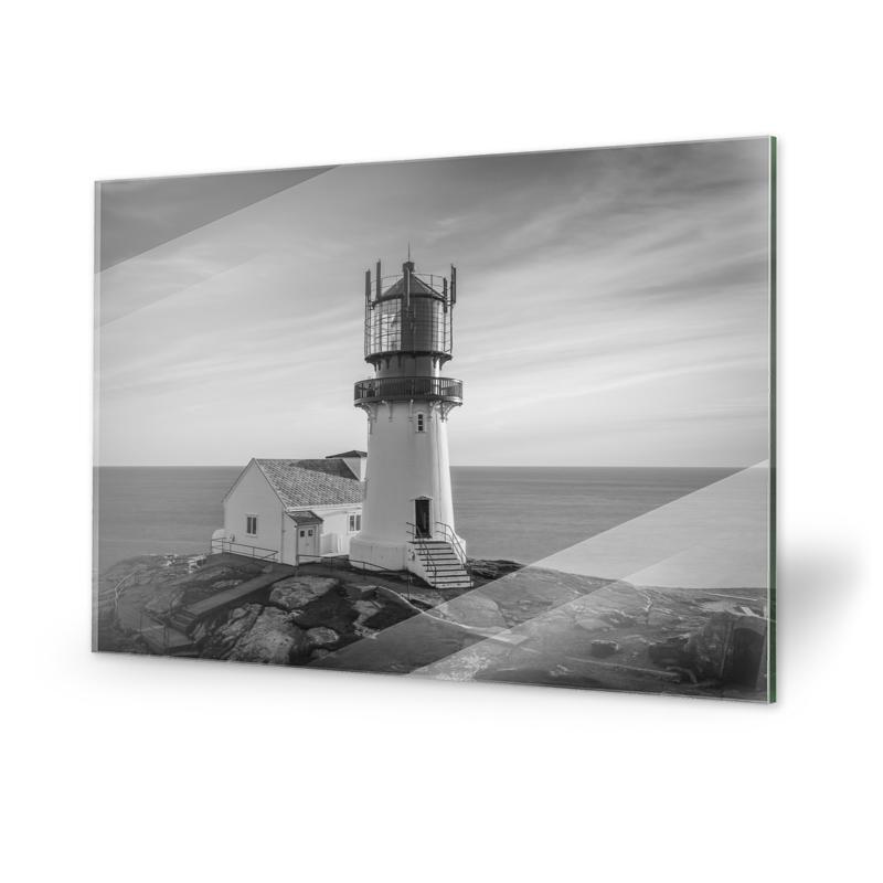 Leuchtturm Lindesnes Fyr Glasdruck