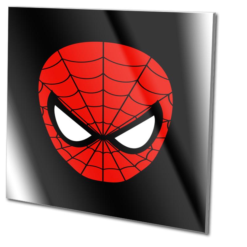 Spiderman Bild Glasdruck