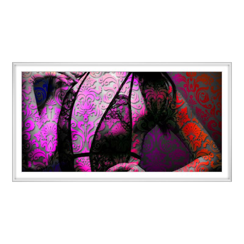 Frau Fotografie Fotoabzug auf Hahnemühle im Alu...