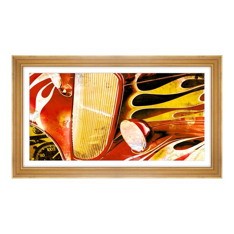 Bild Oldtimer Fotoabzug auf Hahnemühle im Holzr...