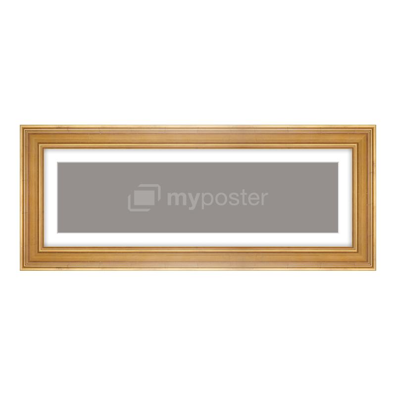 Bilderrahmen aus Holz antik in gold als Panorama im Format 60 x 15 cm