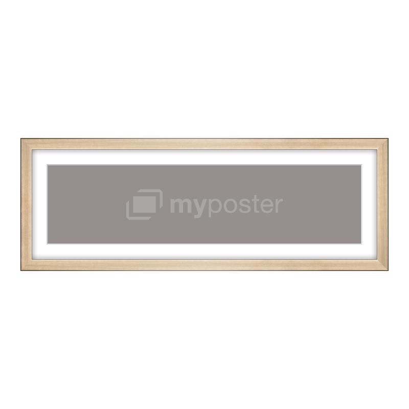 Bilderrahmen aus Holz gebürstet in gold als Panorama im Format 60 x 15 cm
