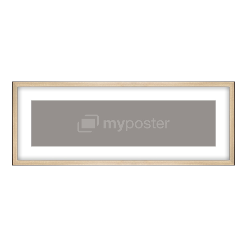 Bilderrahmen aus Holz gebürstet in gold als Panorama im Format 80 x 20 cm