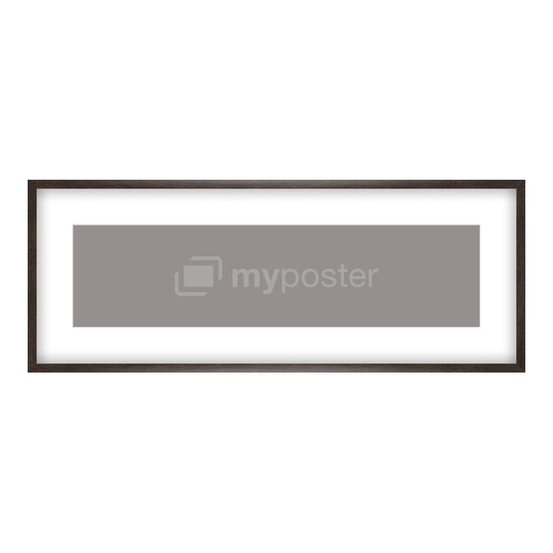 Bilderrahmen aus Holz gemasert in braun als Panorama im Format 100 x 25 cm
