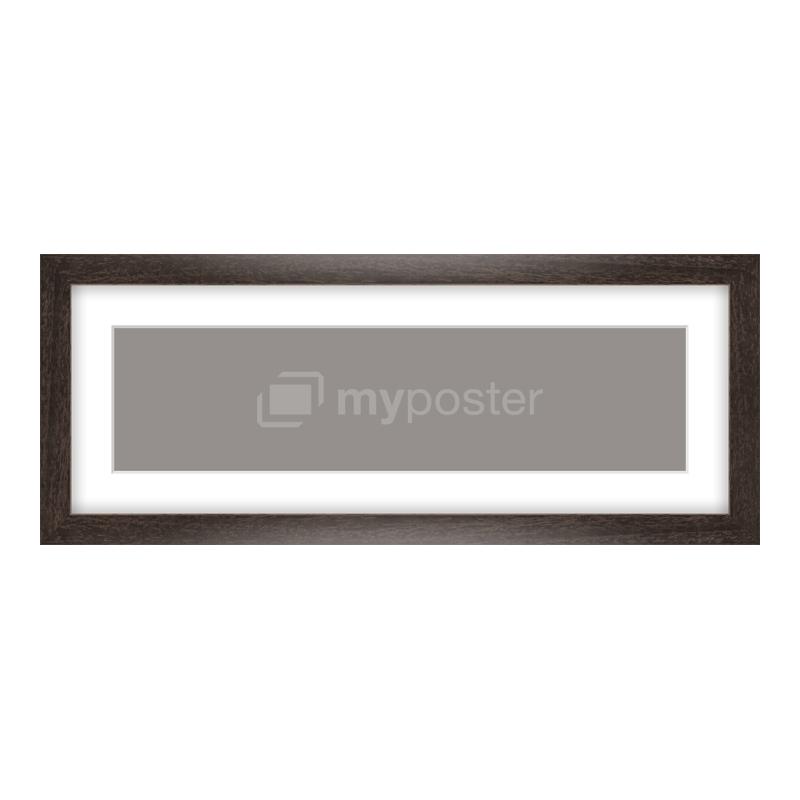 Bilderrahmen aus Holz gemasert in braun als Panorama im Format 40 x 10 cm
