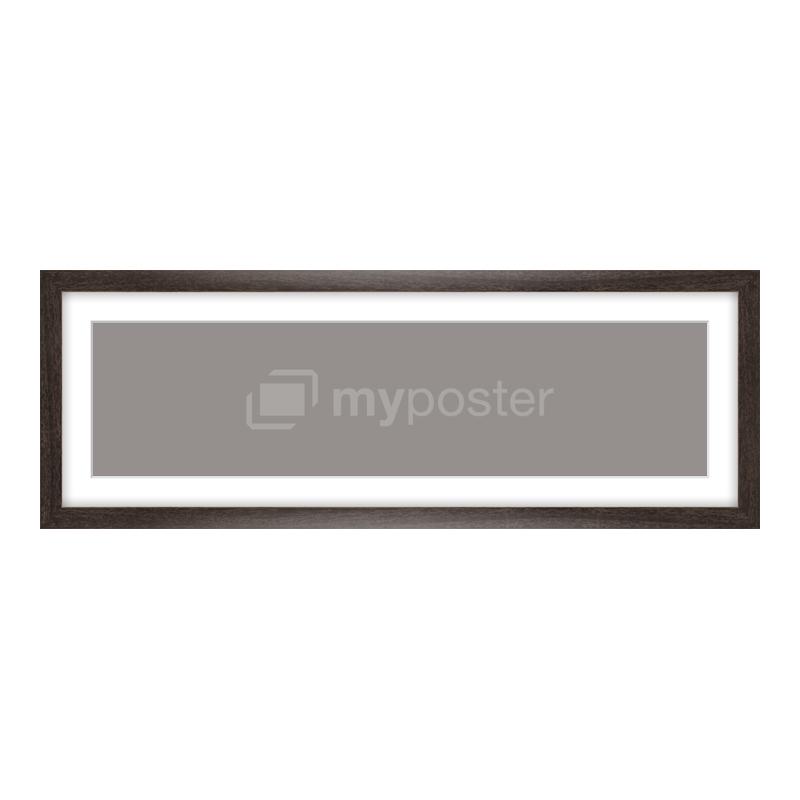 Bilderrahmen aus Holz gemasert in braun als Panorama im Format 60 x 15 cm