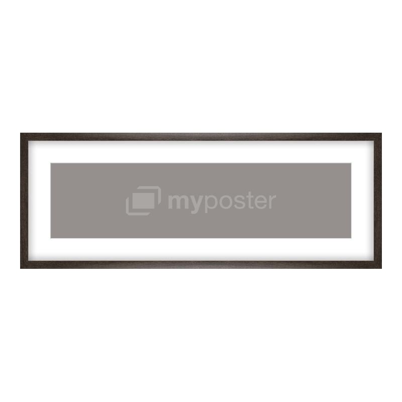 Bilderrahmen aus Holz gemasert in braun als Panorama im Format 80 x 20 cm