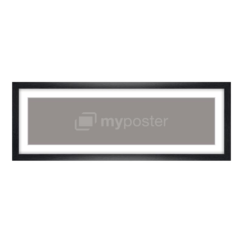 Bilderrahmen aus Holz gemasert in schwarz als Panorama im Format 60 x 15 cm