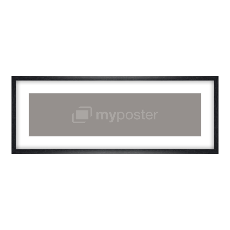 Bilderrahmen aus Holz gemasert in schwarz als Panorama im Format 80 x 20 cm