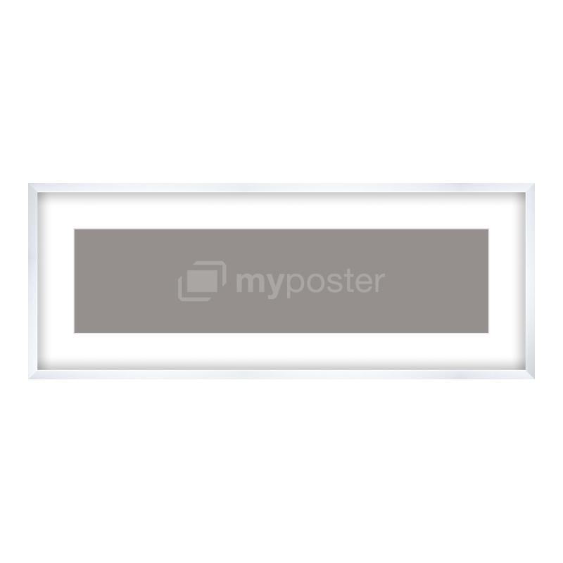 Bilderrahmen aus Holz gemasert in weiß als Panorama im Format 100 x 25 cm