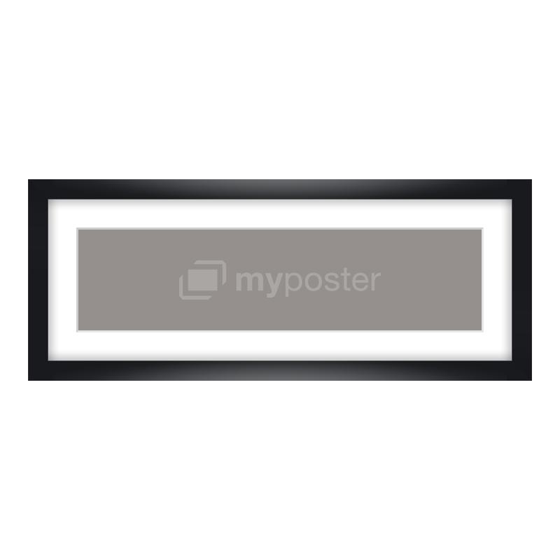 Bilderrahmen aus Holz in schwarz als Panorama im Format 40 x 10 cm