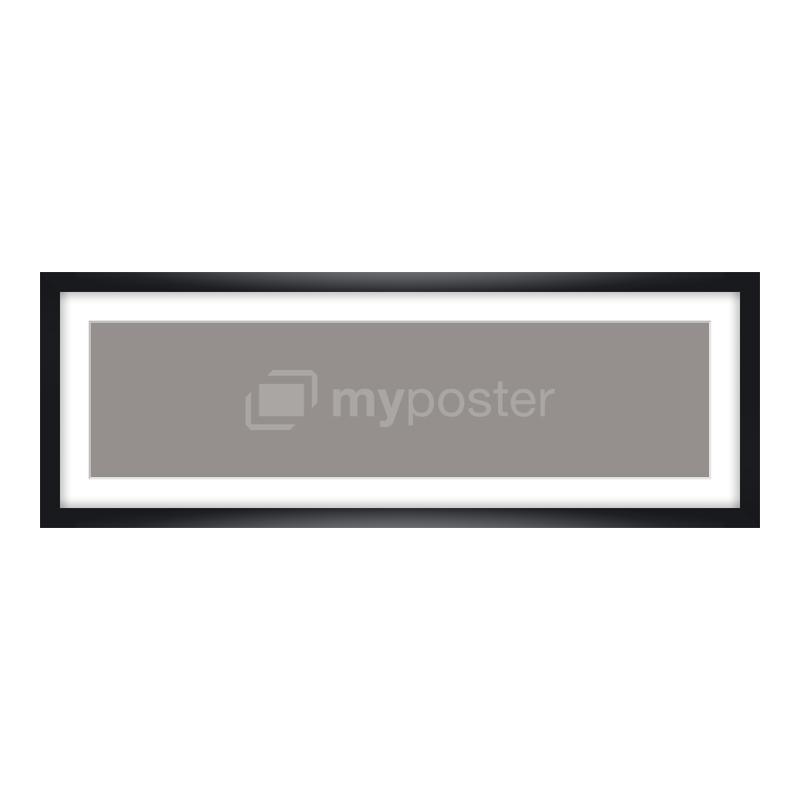 Bilderrahmen aus Holz in schwarz als Panorama im Format 60 x 15 cm
