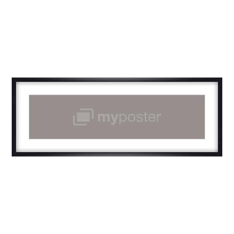 Bilderrahmen aus Holz in schwarz als Panorama im Format 80 x 20 cm