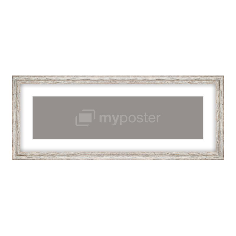 Bilderrahmen aus Holz Vintage in weiß als Panorama im Format 80 x 20 cm