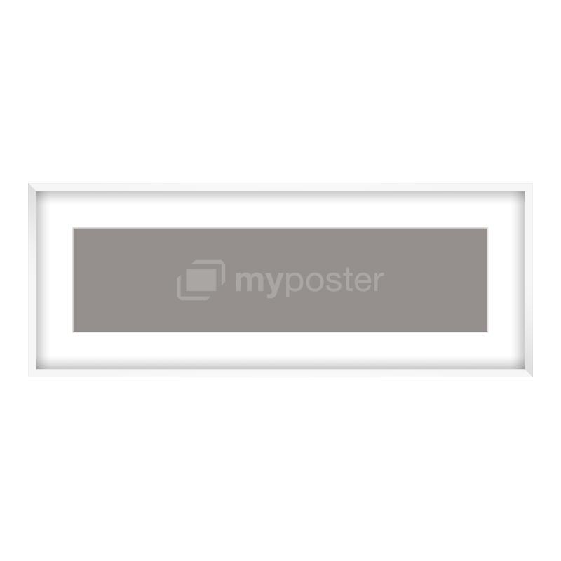 Bilderrahmen aus Holz in weiß als Panorama im Format 100 x 25 cm