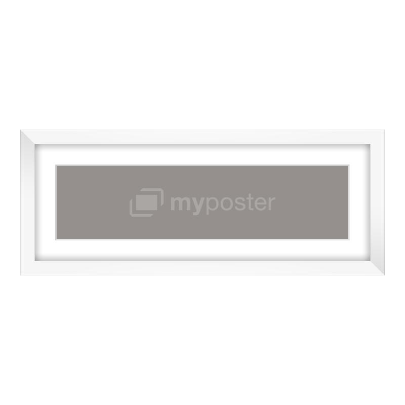 Bilderrahmen aus Holz in weiß als Panorama im Format 40 x 10 cm