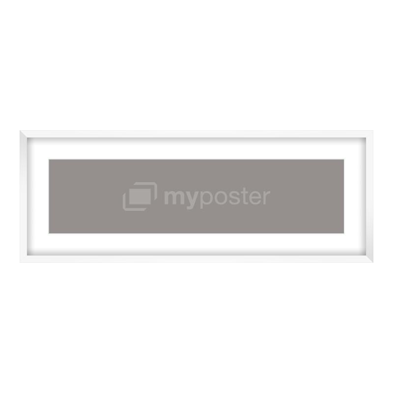 Bilderrahmen aus Holz in weiß als Panorama im Format 80 x 20 cm