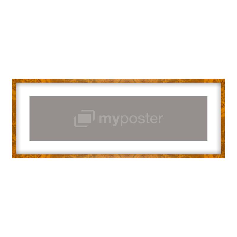 Bilderrahmen aus Holz in Wurzelholz Ausprägung in als Panorama im Format 80 x 20 cm