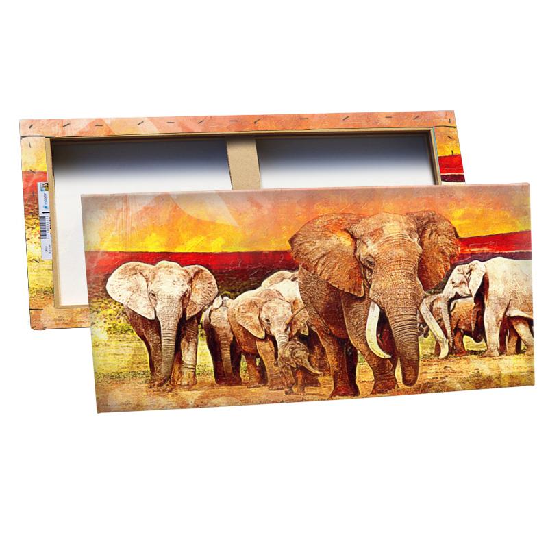 elefant bild auf leinwand preisvergleich die besten. Black Bedroom Furniture Sets. Home Design Ideas