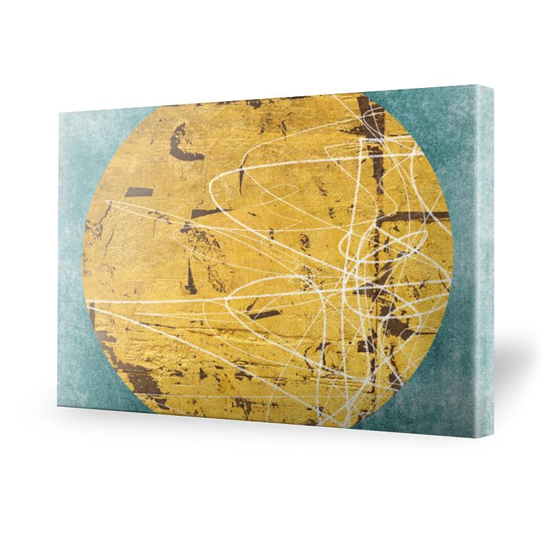 Golden Globe Leinwand Bild