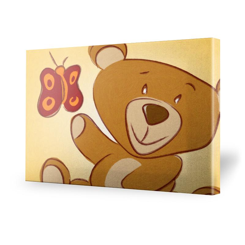 Kinderzimmerbild Teddy Leinwand Bild