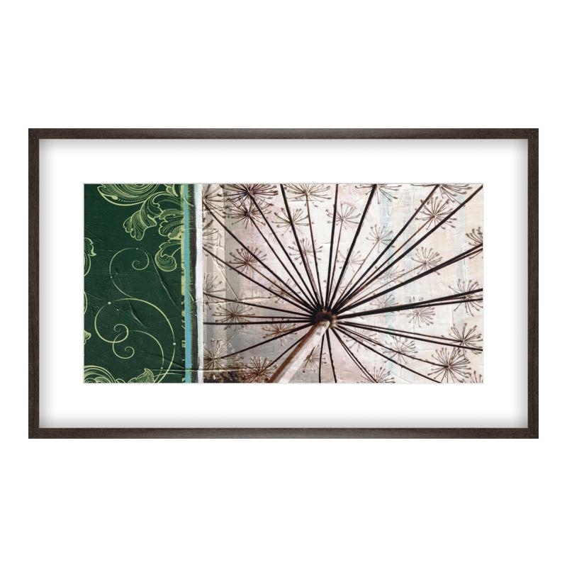Blumen Collage Poster drucken im Holzrahmen gemasert in braun bei Myposter.de