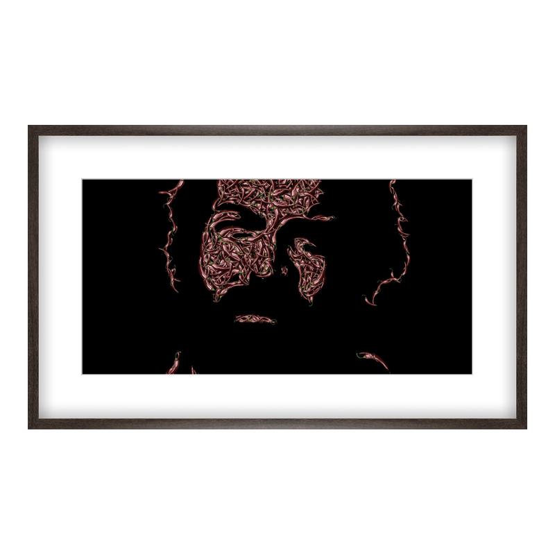 Bud Spencer Bild Poster drucken im Holzrahmen gemasert in braun bei Myposter.de