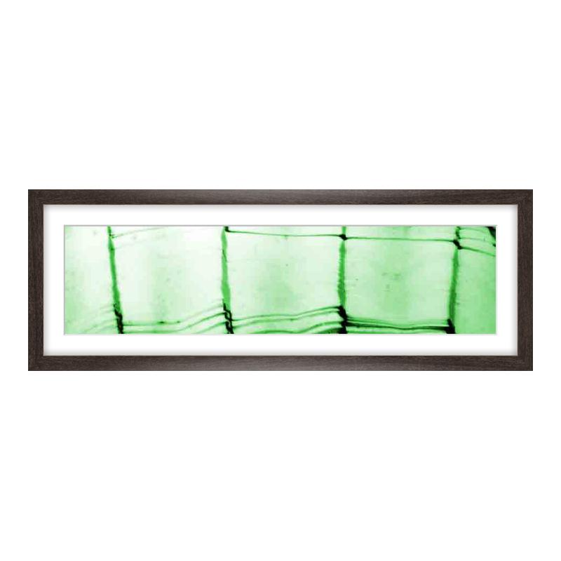 Fotopanorama im Bilderrahmen aus Holz gemasert in braun als Panorama im Format 60 x 15 cm