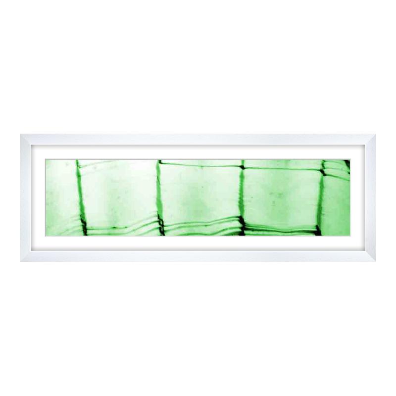 Fotopanorama im Bilderrahmen aus Holz gemasert in weiß als Panorama im Format 60 x 15 cm