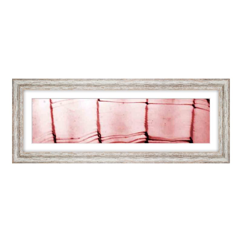 Fotopanorama im Bilderrahmen aus Holz Vintage in weiß als Panorama im Format 60 x 15 cm