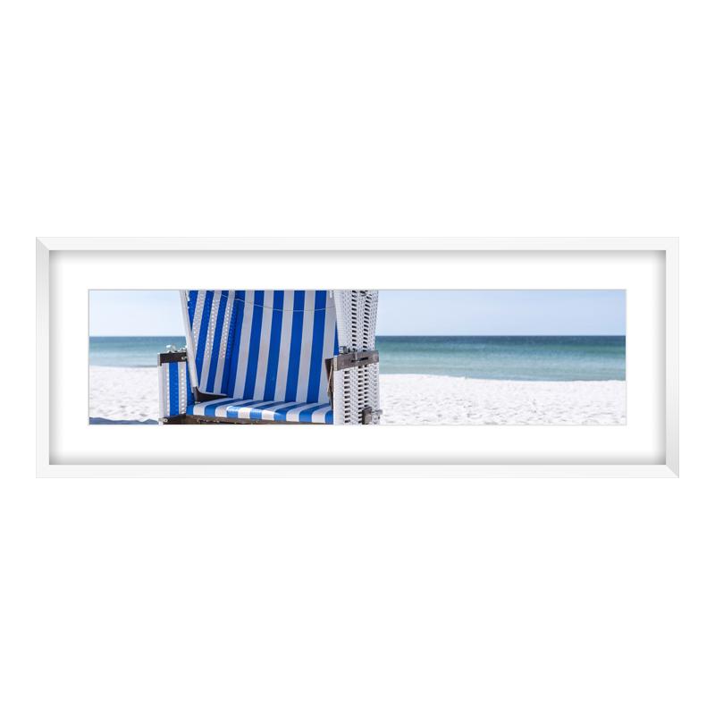 Express Fotopanorama im Bilderrahmen aus Holz in weiß als Panorama im Format 80 x 20 cm
